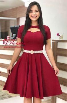 New Moda 2019 Juvenil Oficina Ideas Modest Casual Outfits, Modest Dresses, Modest Fashion, Dress Outfits, Fashion Dresses, Formal Dresses, Cute Short Dresses, Pretty Dresses, Beautiful Dresses