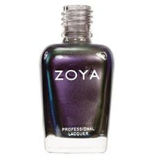 Zoya Nail Polish in Ki - A complex multichromatic shade combining silver, purple, blue and green in a shimmery metallic finish
