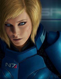 Mass Effect 3 - Shepard.    This one I'd call Valkyr Shepard.