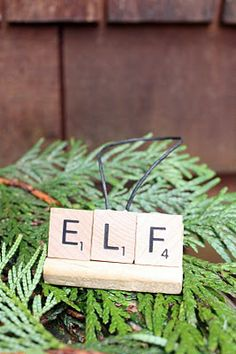 My Sweet Savannah: ~diy Christmas ornaments~ using scrabble letters and trays.