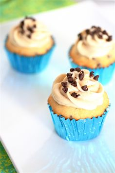 Chocolate Chip Cupcakes with Brown Sugar Cream Cheese Frosting: Let's face it, the frosting is why I'm saving this one!