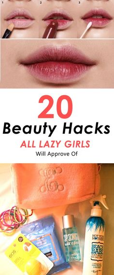 Beauty Secrets The best Beauty Hacks for lazy girls! - These beauty hacks for lazy girls are amazing! Putting on makeup will become so much easier with these simple DIY tips and tricks. Diy Beauty Hacks, Beauty Hacks Nails, Beauty Hacks For Teens, Hacks Diy, Hacks For Girls, Makeup Tips, Beauty Makeup, Eye Makeup, Hair Beauty