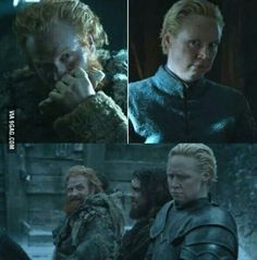 Find someone who will look at you like Tormund looks at Brienne