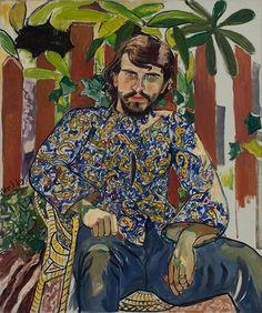 """Alice Neel (USA 1900-1984) Algis Alkaitis (1969) oil on canvas 127,3 x 107,3 x 2,1 cm """