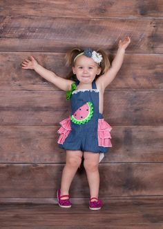 9c12ffe29 Girls Watermelon Romper, Baby Girls Watermelon Outfit, Watermelon Birthday  Outfit, Waltermelon Pageant Outfit