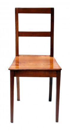 Brettstuhl - Kirschbaum - Biedermeier - Antiquitäten - Antik - Möbel