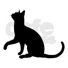 Black Cat Silhouette Keepsake Box by trishstreasures