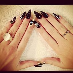 Don't like the pointy nails but like the designs
