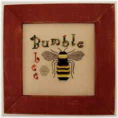 Bumble Bee cross stitch design by Turquoise Graphics & Designs #pattern #chart