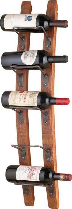 Features:  -Blackburn collection.  -Each piece is made from reclaimed staves of varying lengths and widths, and therefore overall size may vary.  -Hanging hardware included: Yes.  Product Type: -Wine