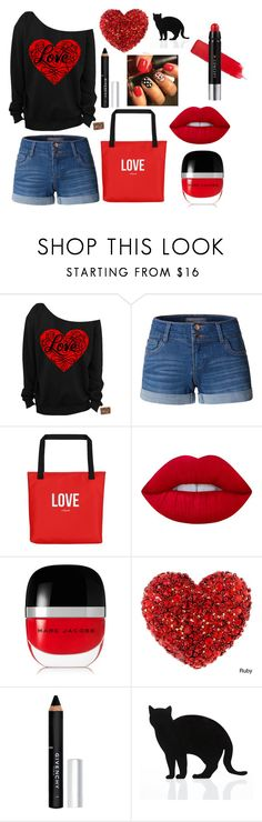 """Valentine's Day"" by josiestab ❤ liked on Polyvore featuring beauty, LE3NO, Lime Crime, Marc Jacobs, Givenchy and 157+173 designers"