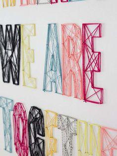 Decorar letras con hilo trenzado