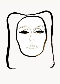 Greta Garbo by Rene Gruau