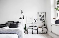 3 Beautiful Cool Ideas: Minimalist Home Office Built Ins modern minimalist living room staircases.Minimalist Bedroom Dresser Wall Colors minimalist home office built ins.Minimalist Home Plans Life. Scandinavian Bedroom Decor, Scandinavian Home, Cozy Bedroom, Bedroom Ideas, Minimalist Scandinavian, Design Bedroom, Bedroom Scene, Light Bedroom, Master Bedroom