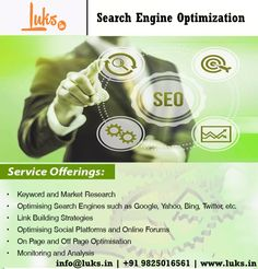 Optimize your #website and attain higher search #ranking in response to a search query with effective & affordable #SearchEngineOptimization services by Luks.in...   To boost traffic & leads on your website contact +91 9099048926 / 9825016561... #Digitalmarketing #SocialMedia #SocialMediaMarketing #seo #Ahmedabad #connectluks