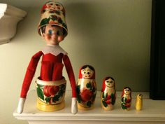 Elf on the Shelf Idea - Stacking Doll?