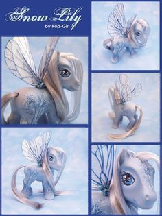 "Winter Pony, ""Snow Lily"" by pop-girl.deviantart.com on @deviantART"