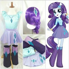 Rarity My Little Pony Top, Skirts, Ears & Boots Kid/Adult/Plus sz avail My Little Pony Rarity, Rarity Pony, Costumes For Teens, Halloween Costumes For Girls, Girl Costumes, Rarity Costume, Girls Party, My Little Pony Birthday Party, Unicorn Costume