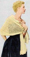 Vintage Country Club Stole. free pattern