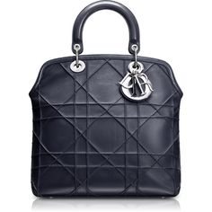 DIOR GRANVILLE Hydrangea leather 'Dior Granville' bag with python... ❤ liked on Polyvore