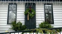 Old door for outside Christmas decor.   Location: ReMax Total Real Estate Office, Yardley, PA 19067.