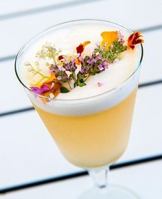 Gin and Passionfruit Cocktail with Green Tea Syrup