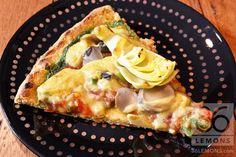 Vegan Pizza with Pesto and Veggies (Great crust recipe)