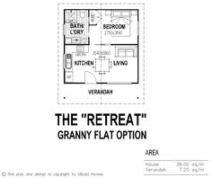 The Retreat Granny Flat Floor Plan