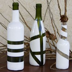 Artesanato com garrafas de vidros.