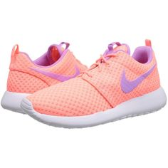Nike Roshe Run Women's Shoes, Pink ($60) ❤ liked on Polyvore featuring shoes, athletic shoes, pink, cushioned shoes, nike, woven shoes, waffle shoes and lace up shoes