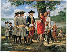 Council with the Allies by Robert Griffing. Montcalm confers with the Aboriginals.