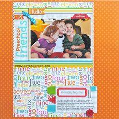Layout: 3 Preschool Friends