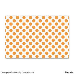 Orange Polka Dots Tissue Paper This design is available on many products! Click the 'available on' tab near the product description to see them all! Thanks for looking!  @zazzle #art #polka #dots #pattern #wrapping #paper #gift #bag #tag #birthday #holiday #color #black #white #blue #green #orange #yellow #purple #aqua #shop #buy #fun #chic #wrap #modern #classic #simple #easy #design #tag #ribbon #tissue