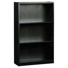 3-Shelf Bookcase Black - Room Essentials™