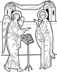Line Drawing Resources - Teacher Resources - Department of Christian Education - Orthodox Church in America Illistrated Faith, Coloring Books, Coloring Pages, Church Icon, Paint Icon, Byzantine Art, Orthodox Icons, Christian Art, Religious Art