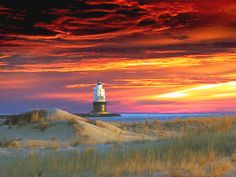 Outer Refuge Lighthouse from Cape Henlopen State Park - photo taken by a friend of my dad's, Patsy Cicala, and is a submission in the Delaware tourism office seasonal photo contest.