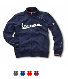 Vespa sweatshirt #Vespa #scooter #merchandising #logo #sweatshirt #blue