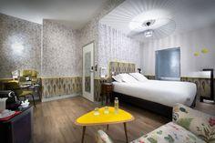 Papiers peints Tres Tintas + Elitis - Hotel Crayon Rouge Paris
