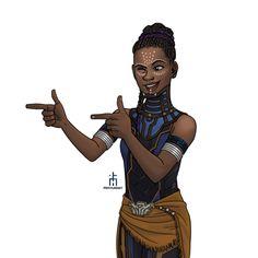 Everyone's new favourite Disney princess #Shuri   #blackpanther   #BlackPantherFanArt