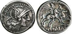 NumisBids: Numismatica Varesi s.a.s. Auction 65, Lot 51 : ANONIME (211-170 a.C.) Denario, simbolo punta di lancia. B. 20 ...