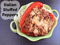 Discover the secret to a perfect hidden veggie dinner with this Italian stuffed peppers recipe. It has something everyone in the family likes and is great for small families!