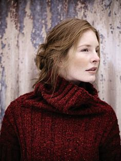 Winnifred from Tweed (ZB117) features a collection of 16 designs by Marie Wallin photographed in the working mill of Melin Tregwynt in Pembrokeshire, Wales   English Yarns