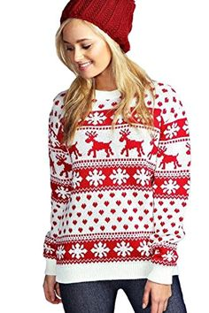 New Unisex Ladies Men Kids Christmas Jumper Reindeer Snowflakes Knitted Xmas Long Sweater Top Ladies Christmas Jumpers, Womens Christmas Jumper, Xmas Jumpers, Christmas Sweaters For Women, Christmas Fashion, Christmas Shirts, Christmas Outfits, Red Christmas, Chunky Cable Knit Sweater