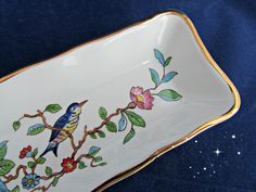 Home Decor on Etsy listing at https://www.etsy.com/listing/214689560/aynsley-fine-bone-china-mint-dish-vanity