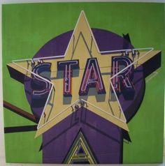 """Robert Cottingham  """"Rock star"""" huile sur toile 120 x 120 cm 2007"""