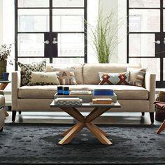 Dunham Down-Filled Sofa - Box Cushion   west elm