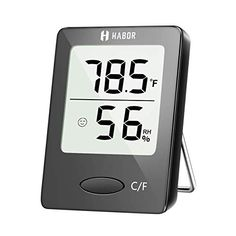 Habor Digital Hygrometer Indoor Thermometer Humidity Gauge Indicator Room Thermometer Accurate Temperature Humidity Monitor Meter for Home Office Greenhouse Mini Hygrometer X Inch) Wall Hanging Designs, Indoor Greenhouse, Humidity Sensor, Temperature And Humidity, Digital Alarm Clock, Gauges, Bluetooth Speakers