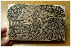 """Wildcat"" wood block print by Tugboat Printshop studios. Cool stuff!"