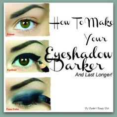 Some great tips on how to make your eyeshadow last longer and much more! A must read by Barbie's Beauty Bits