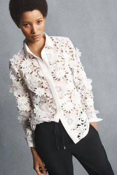 772525fa36cd How gorgeous is the detail on this French Connection blouse  Pair with  track pants for
